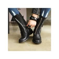 womens boots zipper back womens black synthetic leather toe lace up side zip back tap
