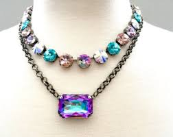 crystal necklace etsy images Swarovski crystal necklace etsy jpg
