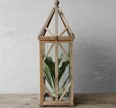 tall wood and glass terrarium antique farmhouse