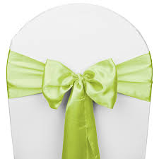 chair sash apple green satin wedding chair sash 5 pk smarty had a party
