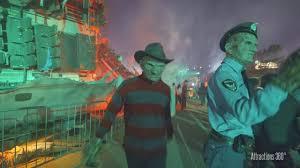 jason halloween horror nights 4k chucky freddy jason u0026 leatherface on terror tram