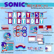 sonic hedgehog party printable collection mimi u0027s dollhouse