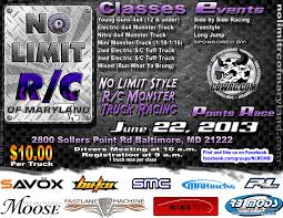 monster truck show baltimore md no limit r c of maryland june race cowrc