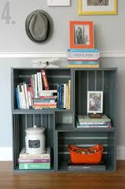 how to make a bookshelf milk crate furniture milk crates and