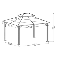Patio Gazebos For Sale by Amazon Com 10 X 12 Chatham Steel Hardtop Gazebo Patio Lawn