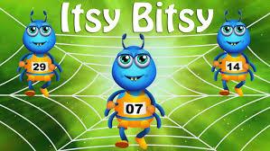 itsy bitsy spider nursery rhyme with lyrics animation