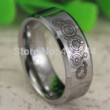 doctor who wedding ring tungsten gallifreyan engraved ring