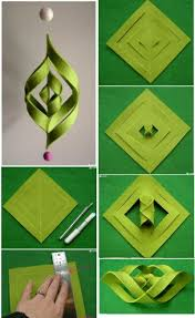 Paper Craft Steps - how to make cool modern decoration step by step diy tutorial