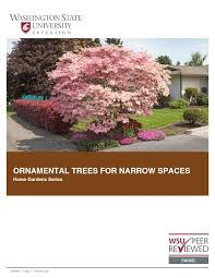 wsu ornamental trees for narrow spaces home garden series