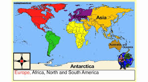 Map Of The World With Continents by The 7 Continents Geography Song Youtube