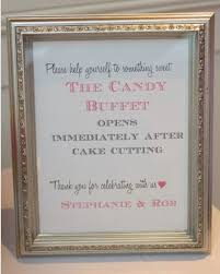 Wedding Table Signs Candy Table Signs Andaz Press Wedding Party Signs Rustic Wood