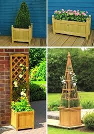 Oak Trellis Homebase Wooden Garden Pots Oak Barrel Garden Tubs 113 Best
