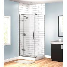36 Shower Doors Delta 36 In X 36 In X 76 In 3 Corner Frameless Shower