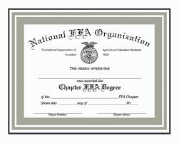 ffa certificate template foil certificates