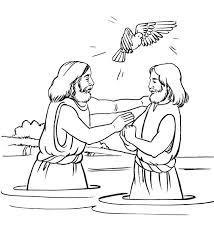 baptism of jesus coloring page cecilymae