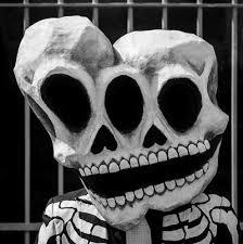 Skeleton Mask Paper Maché Conjoined Twins Skull Mask Manning Makes Stuff