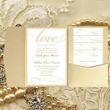 print your own wedding invitations diy pocket wedding invitations it s chagne gold