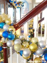 Christmas Decorations Banister Banister Decked Out For Christmas At The Dedicated House The