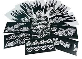 parth impex henna stencils pack of 16 self adhesive