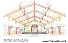 Catholic Church Floor Plans by Townhall Ii Inside The New Church Holy Trinity Catholic Church