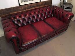 Leather Chesterfield Sofa Vintage 3 Seater Oxblood Red Leather Chesterfield Sofa In