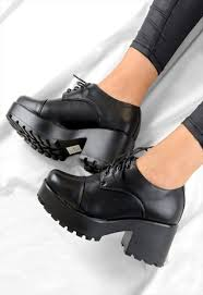 buy boots shoes retro lace up chunky grip heel ankle boots shoes stuff to
