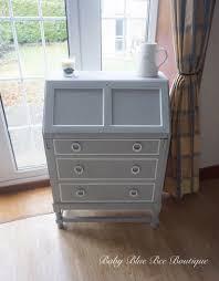 shabby chic writing desk grey writing bureau desk shabby chic antique in craigentinny