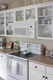 White Glass Cabinet Doors Kitchen With Grey Cabinets And Glass Cabinet Doors Glass