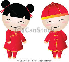 china doll boy and chinese new year vectors search clip
