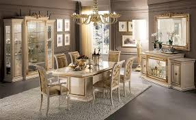 classic luxury dining room with table chairs and showcase