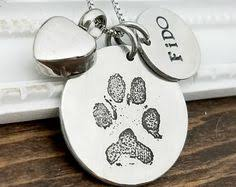 Personalized Paw Print Necklace Your Pet U0027s Actual Paw Print Custom Personalized Pendant And Puffed