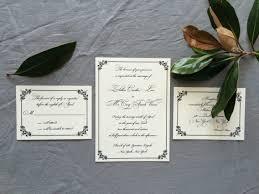 sle regency wedding invitation suite with formal monogram with
