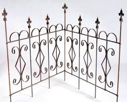 wrought iron garden edging fence