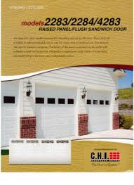 Chi Overhead Doors Prices Chi Overhead Doors Models 2283 2284 4283 Garage Door Repair