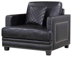 Black Leather Accent Chair Parent Transitional Armchairs And Accent Chairs By Meridian