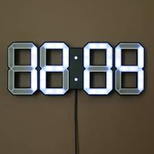 Design Clock by White U0026 White Digital Led Clock Black Kibardin Design Design