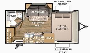 Shadow Cruiser Floor Plans Used 2014 Cruiser Rv Shadow Cruiser 185fbs Travel Trailer Stock