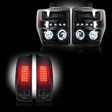 2008 ford f250 tail light bulb recon smoked headlight tail light package 2008 10 ford superduty