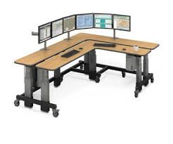 Large L Desk Dual L Shaped Corner Sit To Stand Desk Afcindustries Com