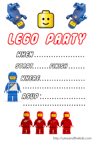 free printable lego birthday party invitations u me and the kids