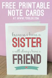 sisters note card note cards free printable and note