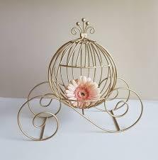 Wire Pumpkin Carriage Centerpiece by Medium Fairytale Cinderella Pumpkin Carriage Centerpieces