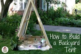 Tent In Backyard by How To Build A Backyard Tent Hoosier Homemade