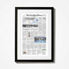 the new york times has front page reprint nytstore