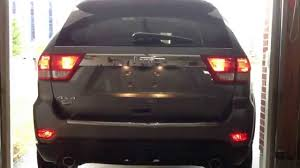2016 jeep cherokee tail lights wk2 2011 jeep grand cherokee rear fog l taillight upgrade youtube