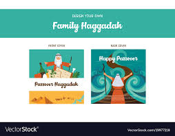 passover book haggadah passover haggadah design template haggadah book vector image
