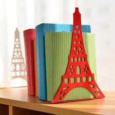 Large Bookshelves For Sale by 2pcs Pair Korean Large Fashion Bookshelf Metal Bookend Eiffel
