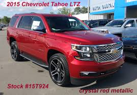 chevrolet suburban red 2015 chevrolet tahoe ltz in crystal red metallic stock 15t924