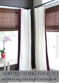 In Store Curtains A Simple Idea For Customizing Store Bought Curtain Panels