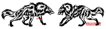 tribal wolf set by wildspiritwolf on deviantart
